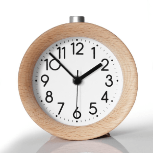 Natural Wood Clock with Black and White Numbers http://amzn.to/2xLNcmv