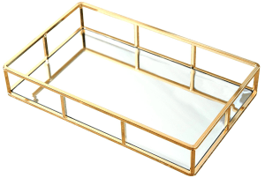 Brass Mirrored Bedroom Dresser or Nightstand Tray http://amzn.to/2A00rRx