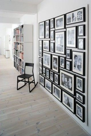 Family Photos Gallery Wall All In Black Frames