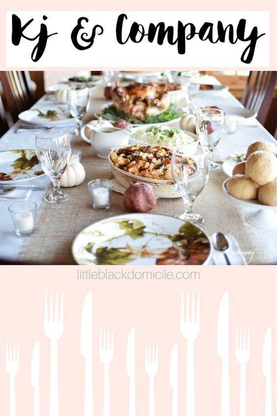 kj&company thanksgiving dinner table setting