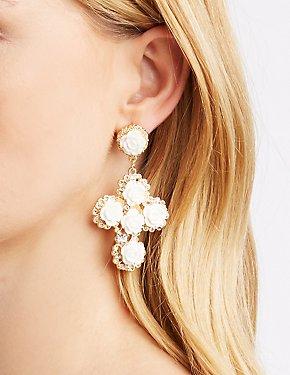 Ivory Statement Earrings