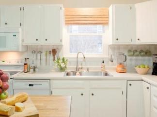 Pegboard As Splash In Kitchen
