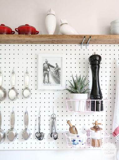 shelf on top of pegboard