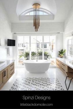 Spinzi Designs Bathroom on Pinterest @littleblackdomicile