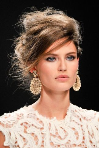 Bronze and Ivory Statement Earrings