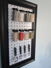 spices on pegboard