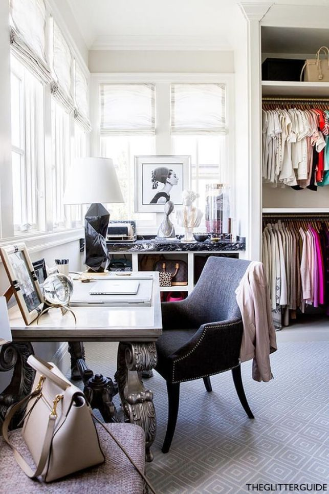 The Glitter Guide Office Closet