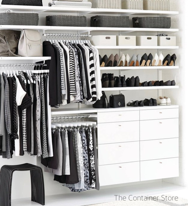 The Container Store Black and White Wall Unit Closet