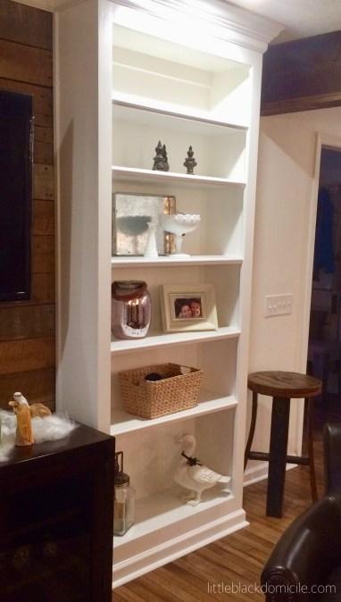 littleblackdomicile styling open bookcases