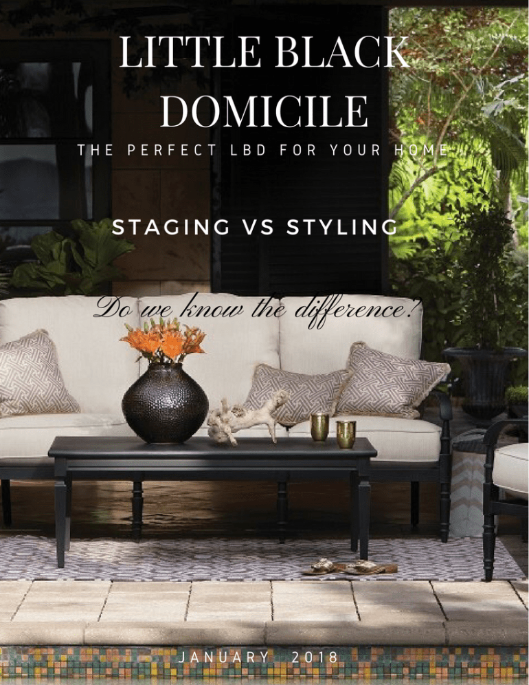 LBD Magazine January 2018 Staging vs Stying..Do We Know The Difference?
