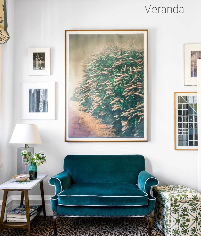 Veranda Small Sitting Area with Gallery Art Wall
