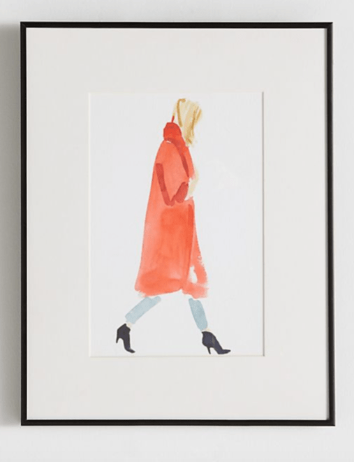 Anthropologie Red and Blonde Wall Art