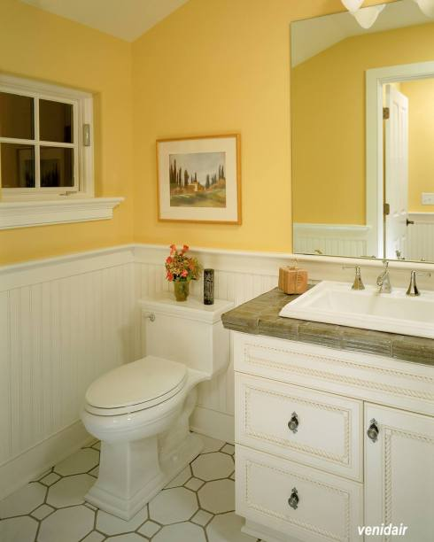 yellow bathroom wall color