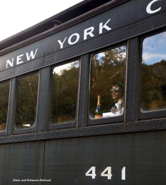Ulster and Delaware Railroad 441 Black Train To New York