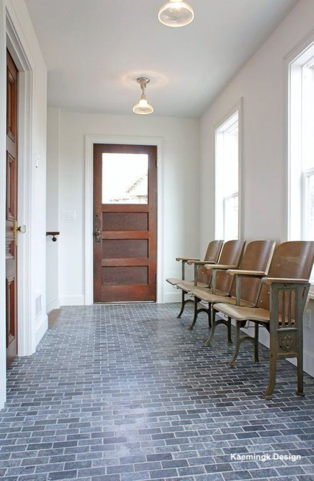 kamingk design-gray brick floor tile-schoolhouse floor-littleblackdomicile