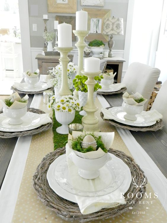 Rooms For Rent - Ivory/White Easter Egg Table