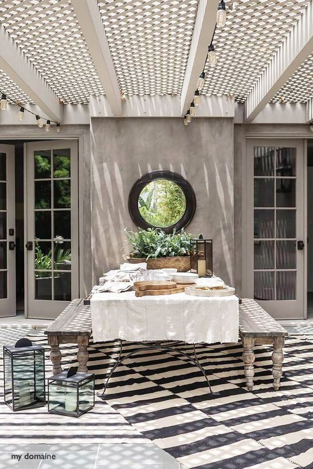 mydomaine outdoor patio alfresco dining