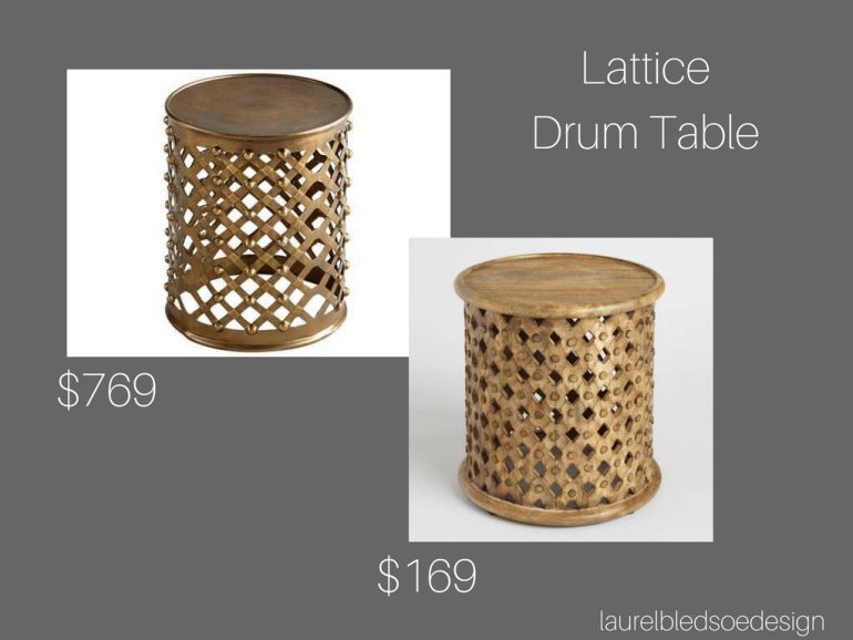 laurelbledsoedesign budget savvy gold leaf lattice table