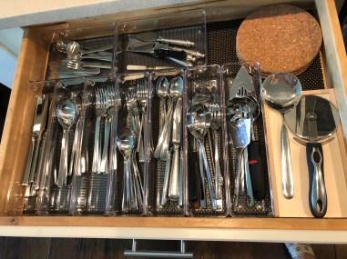 littleblackdomicile- organization-clear storage containers-silverware
