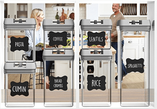 amazon clear stackable pantry storage containers