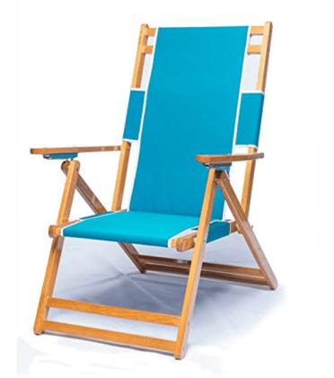 oak and canvas beach chairs
