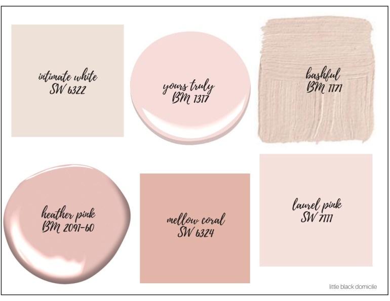 littleblackdomicile- blush paint colors