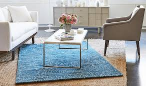 One Kings Lane Woven Rug-Blue Rug