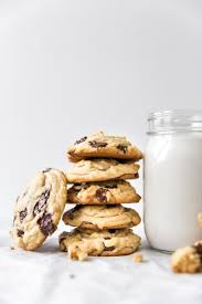 kj&company chocolate chip cookies and milk