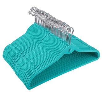 cascading-teal-velvey-hangers