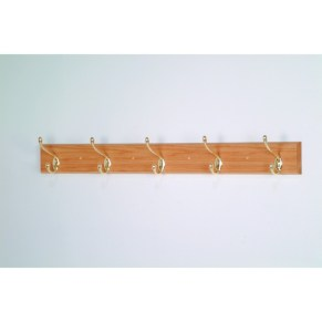 wall mount coat rack with hooks Uniqueof Square Wooden Wall Mounted Board For 4 Log Wood Coat Hook