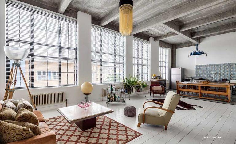 real homes-warehouse-living