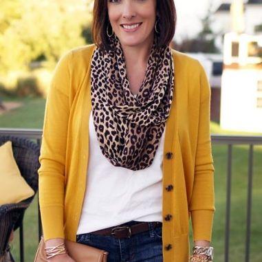 jolynneshane-mustard-cardigan-leopard-scarf