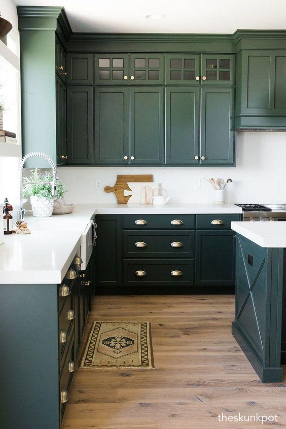 theshunkpot-green-kitchen-cabinets