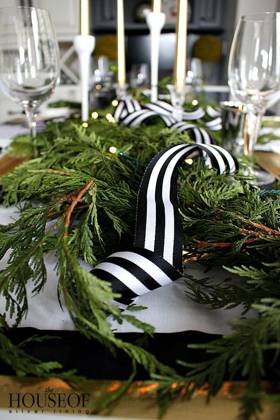 thehouseofsilverlinings-black and white- stripe-holiday-ribbon