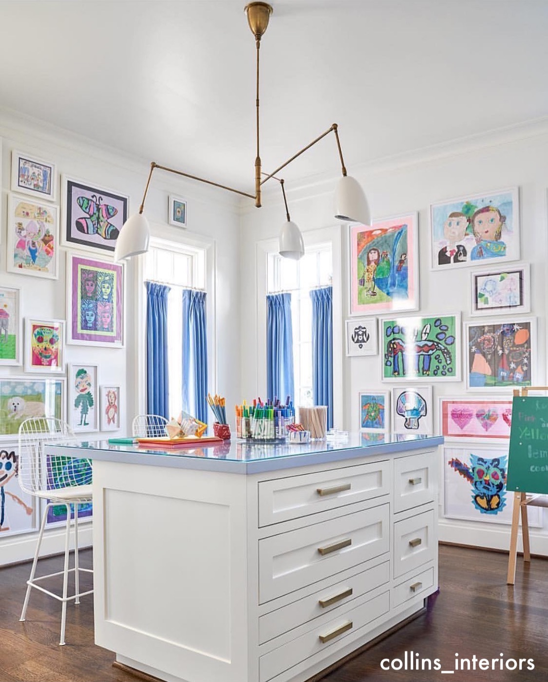 collins_interiors-periwinkle blue-kids-desk-craft-rooms-gallery-walls-littleblackdomicile
