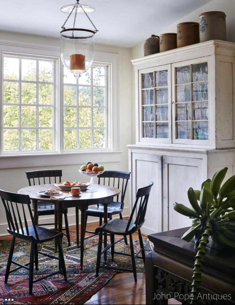 johnpopeantiques-charleston-breakfast-nook-layered-vintage-area-rugs-littleblackdomicile-sunday-we-spy-with-our-designer-eye