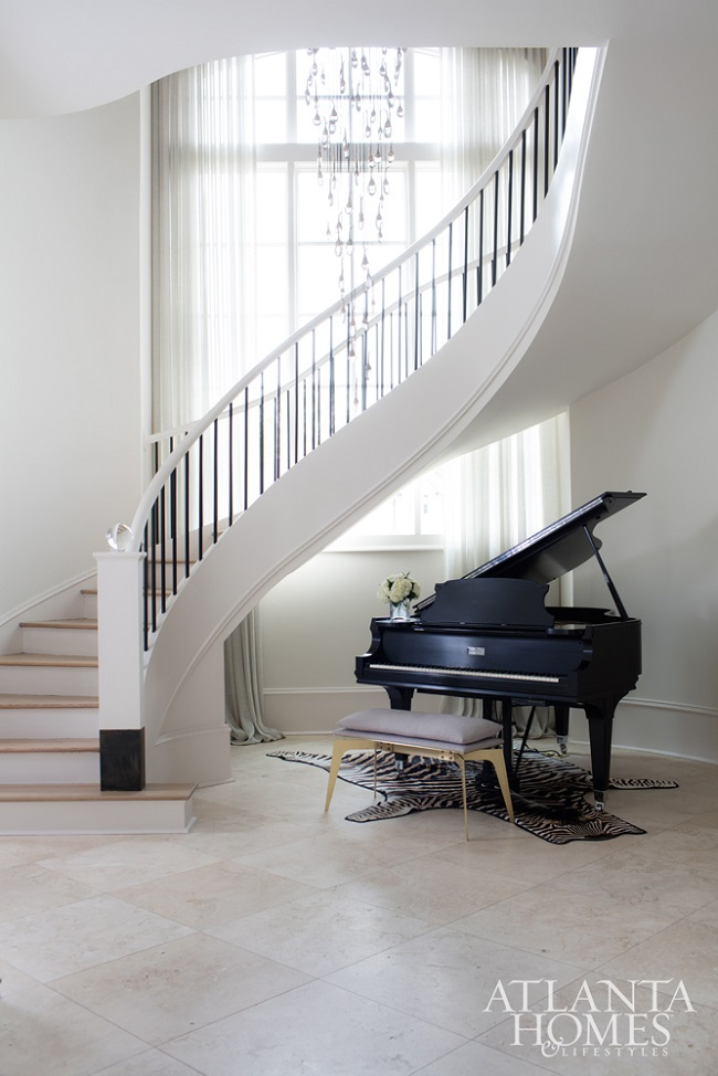 Sarah Dorio-atlanta homes- staircase-piano-decor