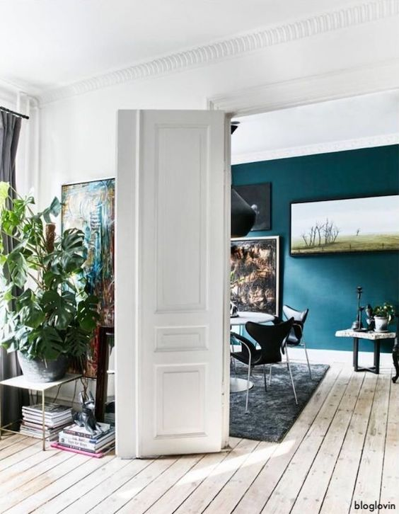bloglovin-teal-wall-washed-wood-floors