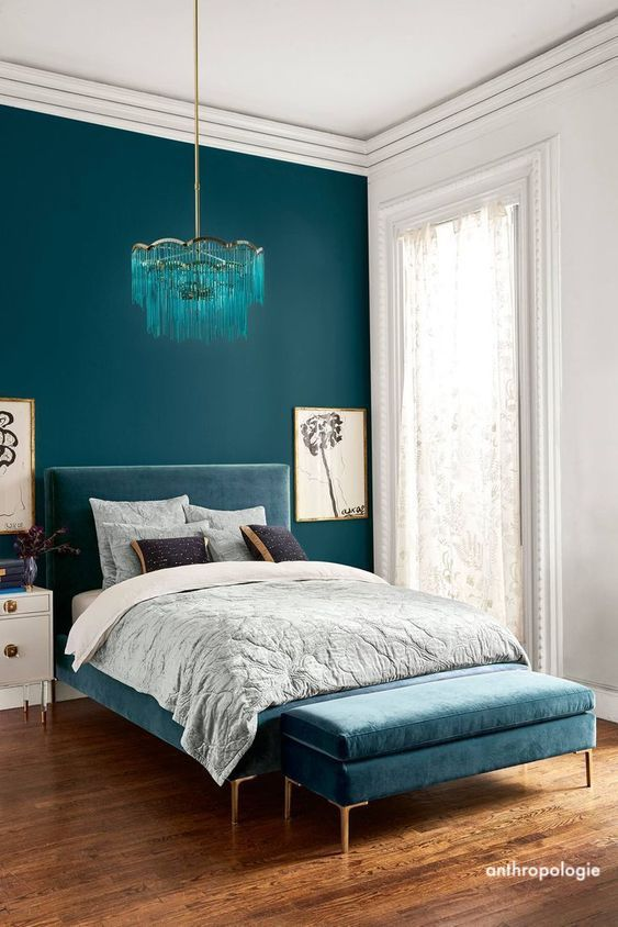 anthropologie-turquoise-velvet-bed
