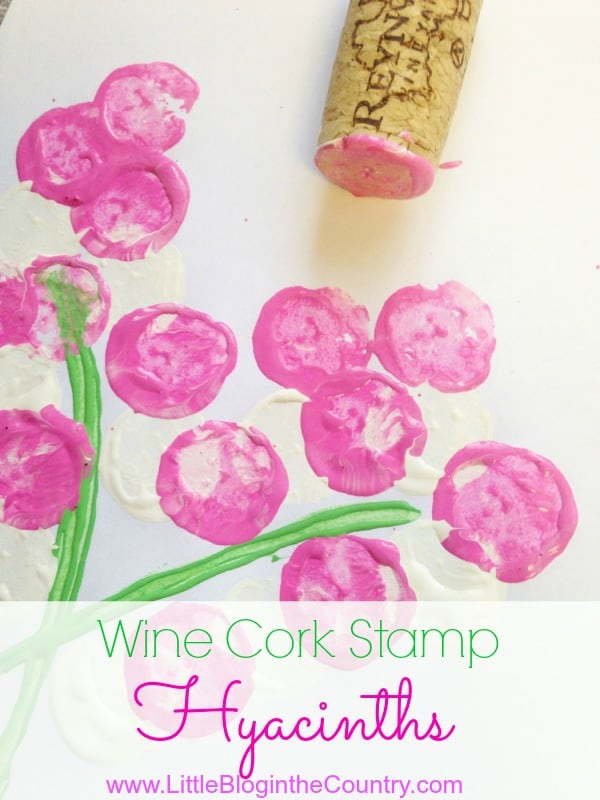 Wine Cork Hyacinth Stamps