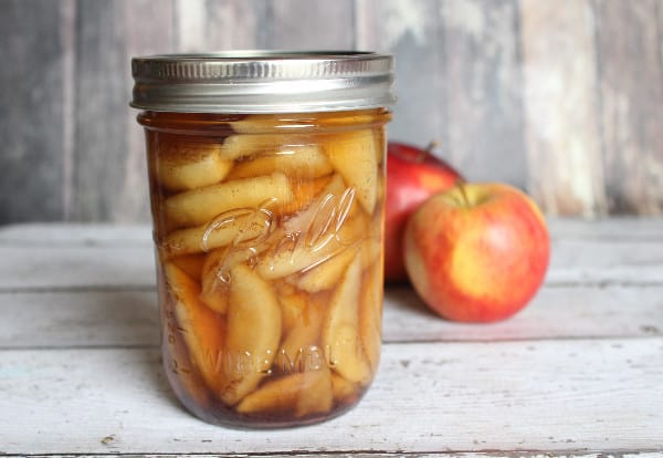 pressure cooker canned apple pie filling