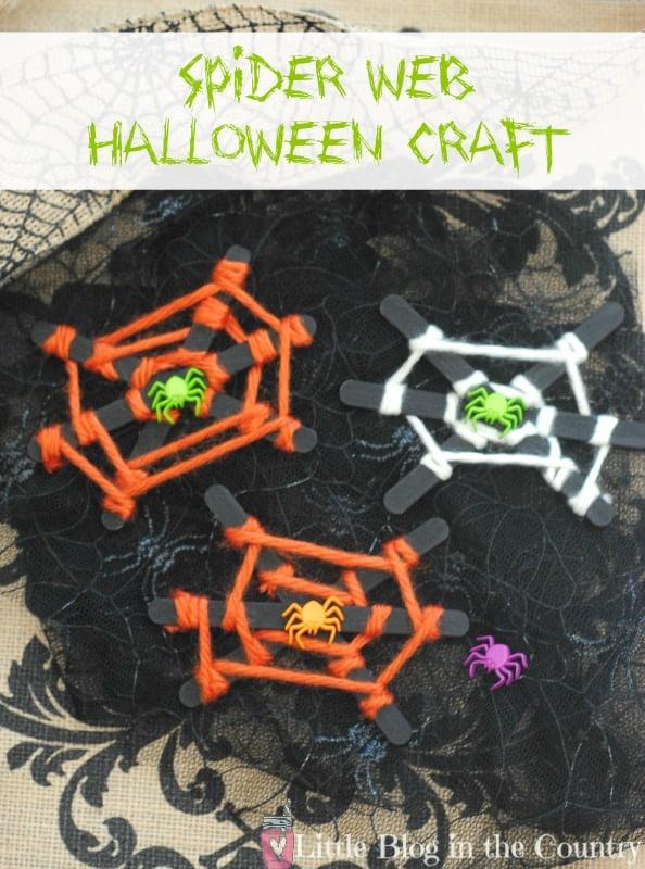 spider web halloween craft for kids