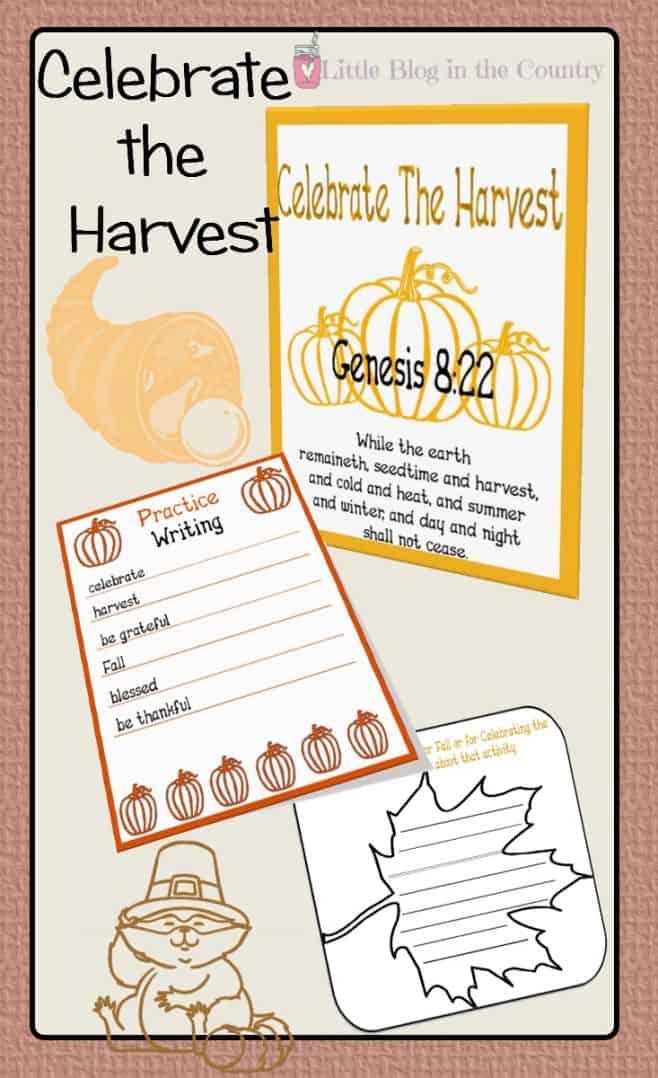 Celebrating the Harvest Unit Study