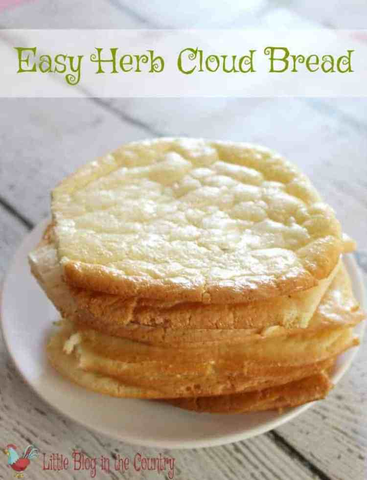 Low Carbing it but craving bread? This Easy Herb Cloud Bread recipe hit the spot. No they just another Cloud Bread this one kicks it up a notch with herbs.