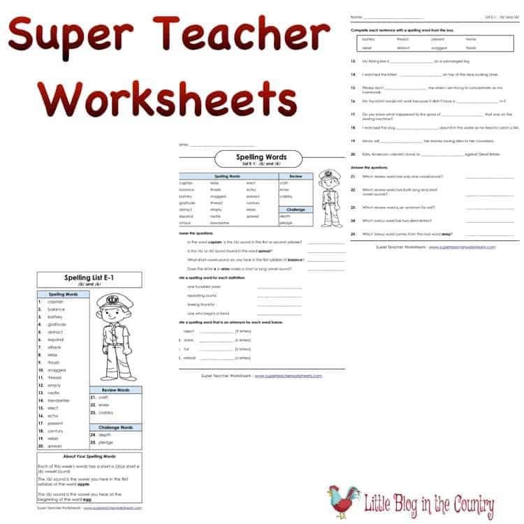 Super Teacher Worksheets for Homeschool hsreviews – Homeschool Worksheets