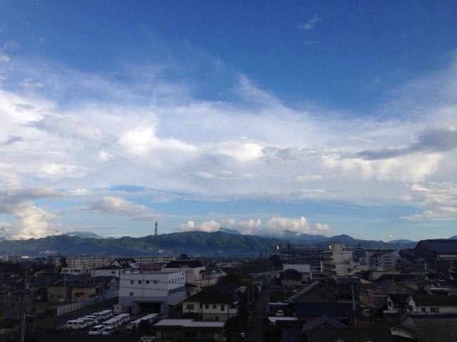 雨上がりの松山市