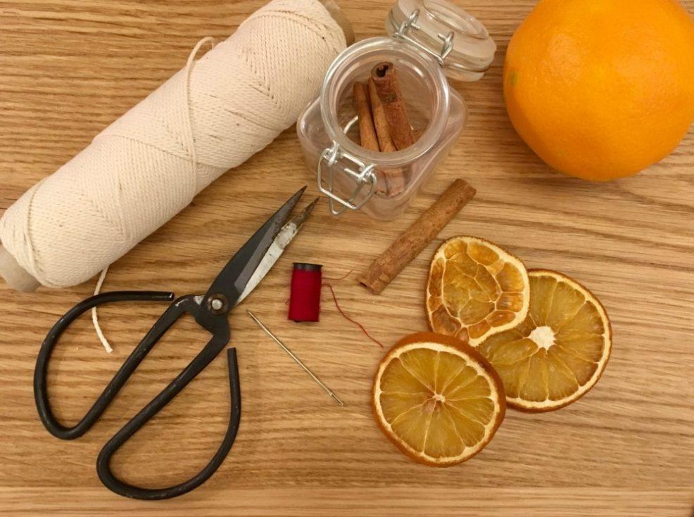 Tørret appelsiner