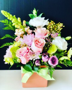 Ceramic Box of Flowers Little More