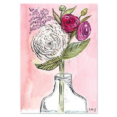 EM Art Print - Blooms Bottled