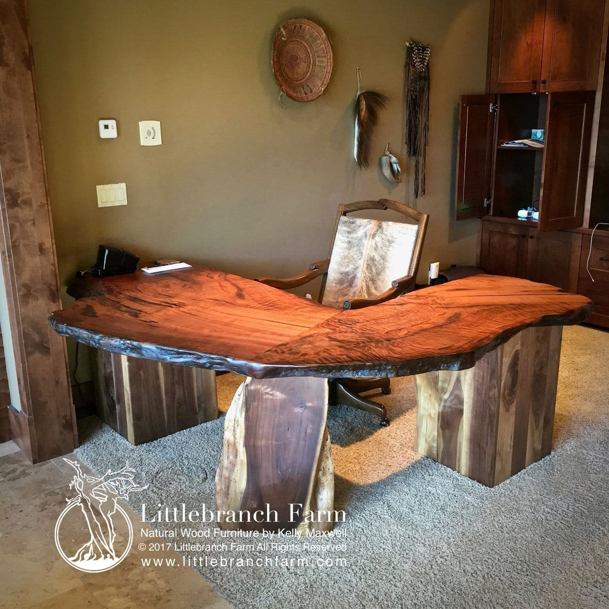 newest 9ff7c 7d8ec Rustic Desk whether home, executive or office desk